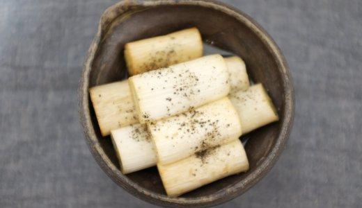 初心者でも簡単燻製!燻製長ネギのオリーブオイル漬けのレシピ。